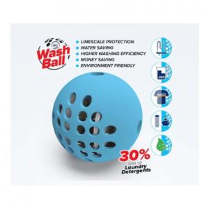 כדור להפחתת אבנית במכונת כביסה