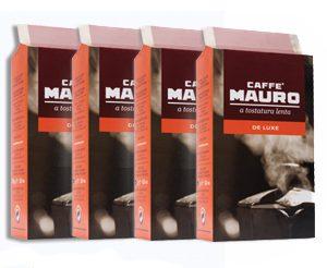קפה טחון Mauro De Luxe וואקום 1000 גר' (4 חבילות)