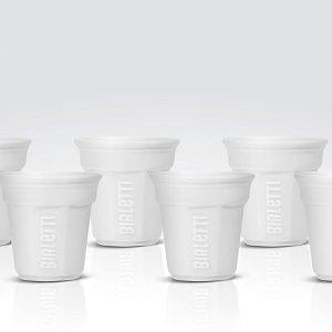 מארז 6 כוסות קרמיקה לבנות BIALETTI